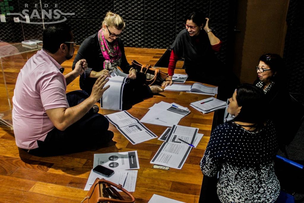 Grupos temáticos são parte da oficina e oferecem oportunidade de debate