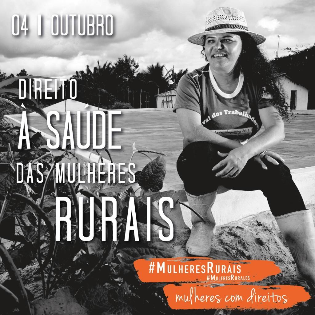 Diariamente a campanha divulga imagens lembrando diretos das mulheres rurais