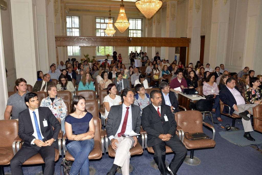 Auditório do Salão Nobre da Secretaria de Abastecimento, em São Paulo, esteve lotado durante a entrega do Prêmio