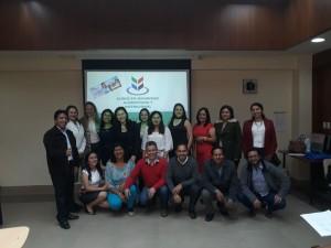 Professoras e a turma concluinte do Curso de Especialização de Segurança Alimentar e Nutricional na Universidade Técnica de Loja - Equador