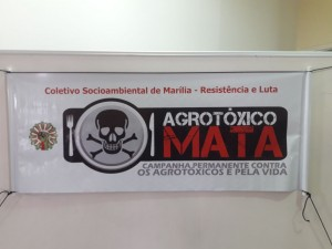 Coletivo Socioambiental de Marília na Campanha Permanente Contra os Agrotóxicos e pela Vida