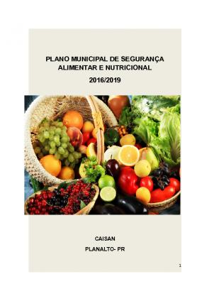 Plano de SAN – Planalto/PR